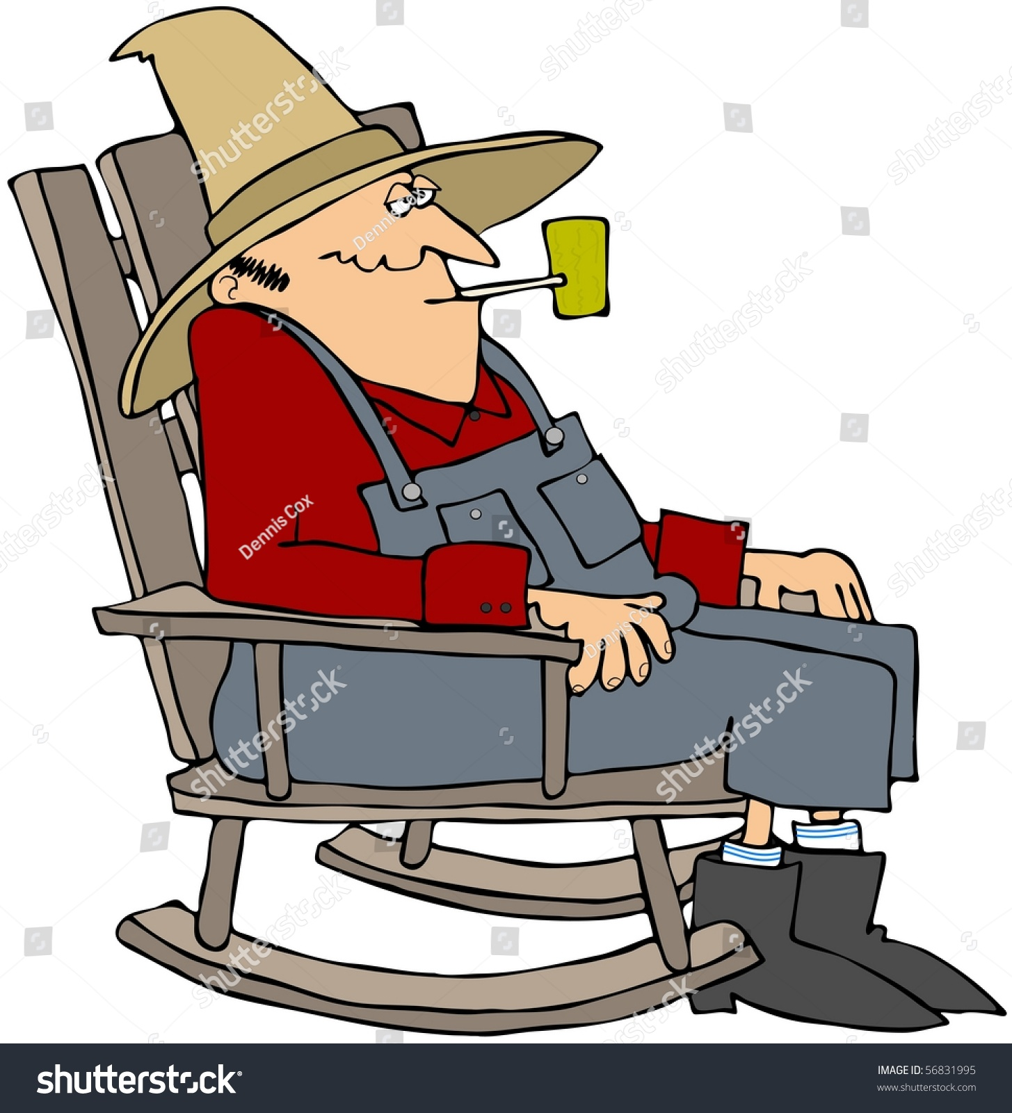 old fashioned rocking chairs costco camping man chair stock illustration 56831995