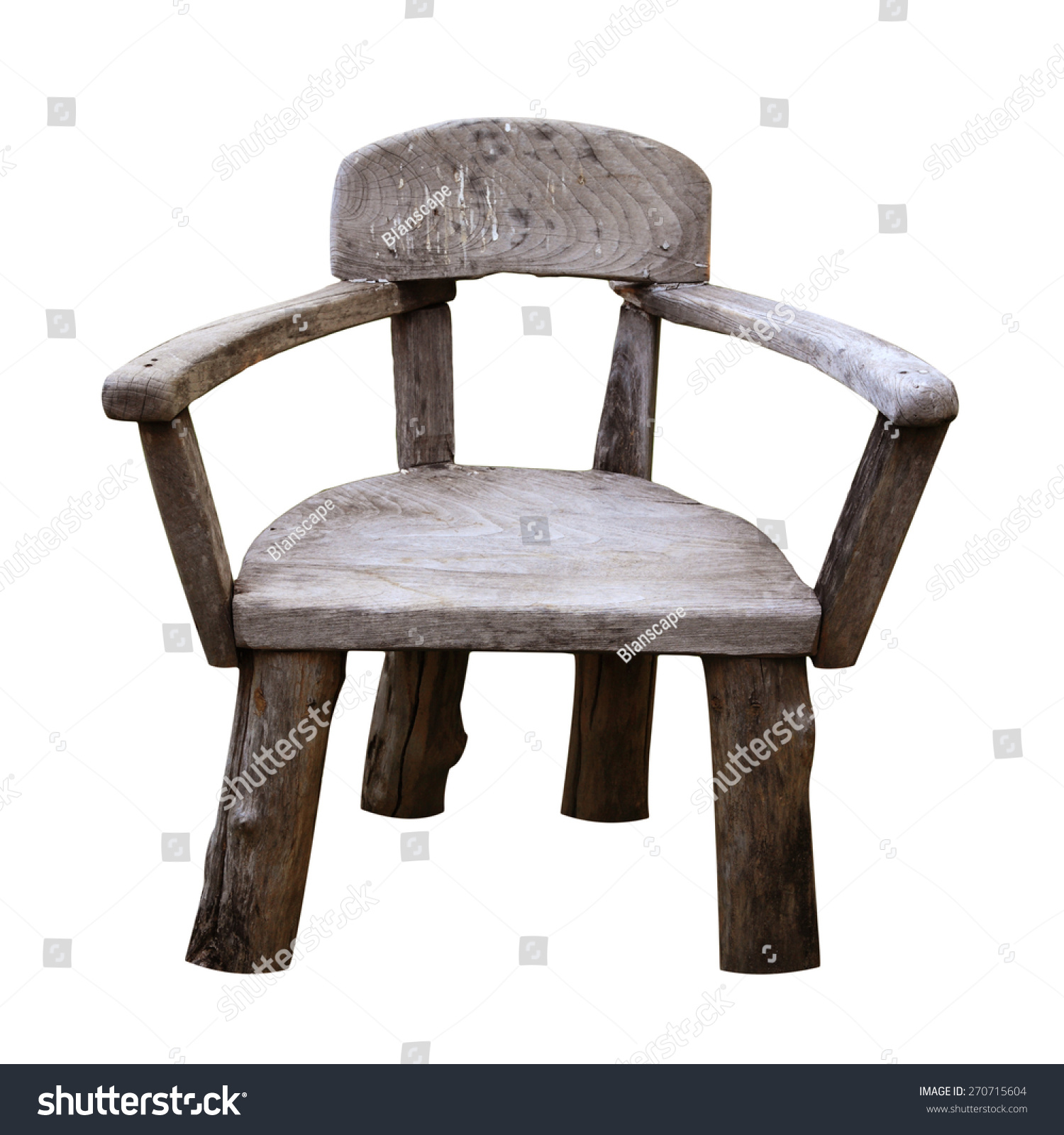 Small Stool Chair Old Small Wooden Chair Stool Isolated Stock Photo Edit Now