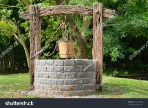 Old Water Well with Pulley