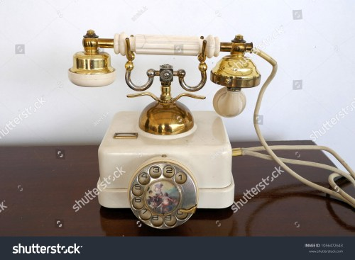 small resolution of old white golden antique telephone with decorated dial rare retro phone probably 20s