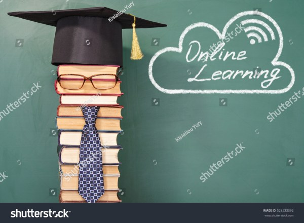 Online Learning Funny Education Concept Unusual Stock
