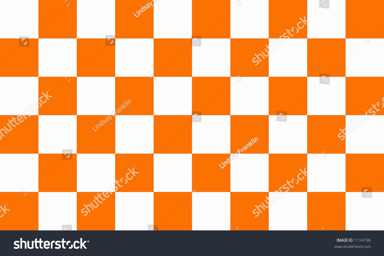 Orange And White Checkerboard Stock Photo 1114196