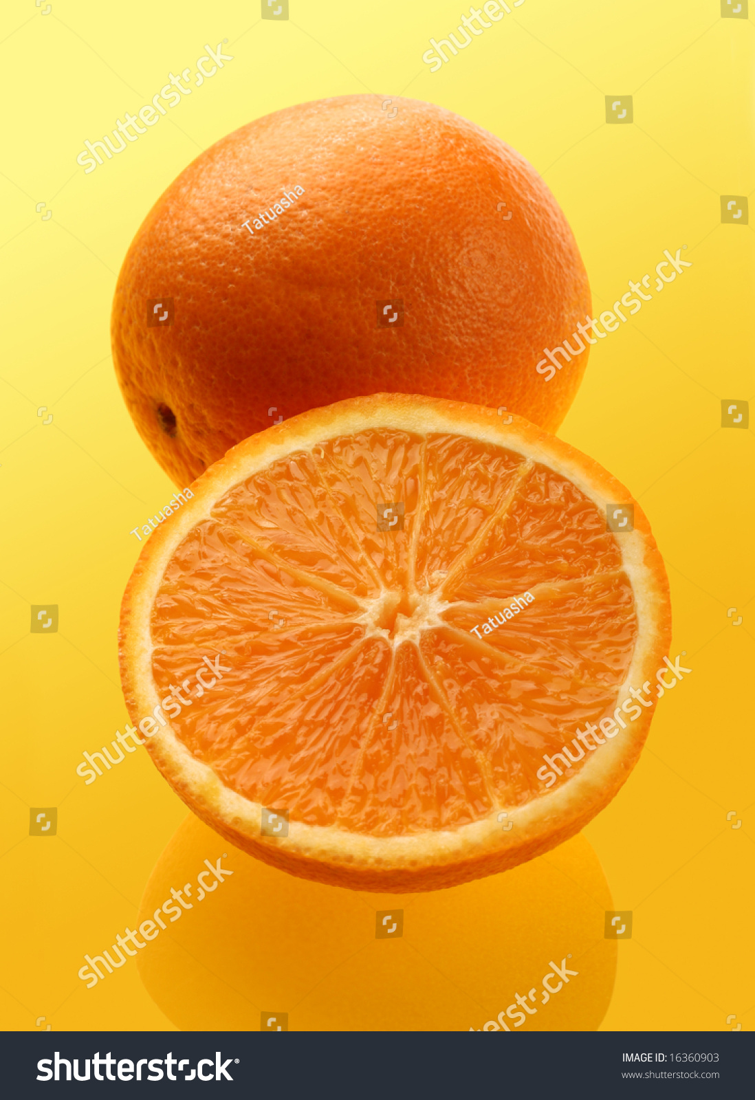parts of an orange fruit diagram how do you draw a family tree part on yellow background stock photo