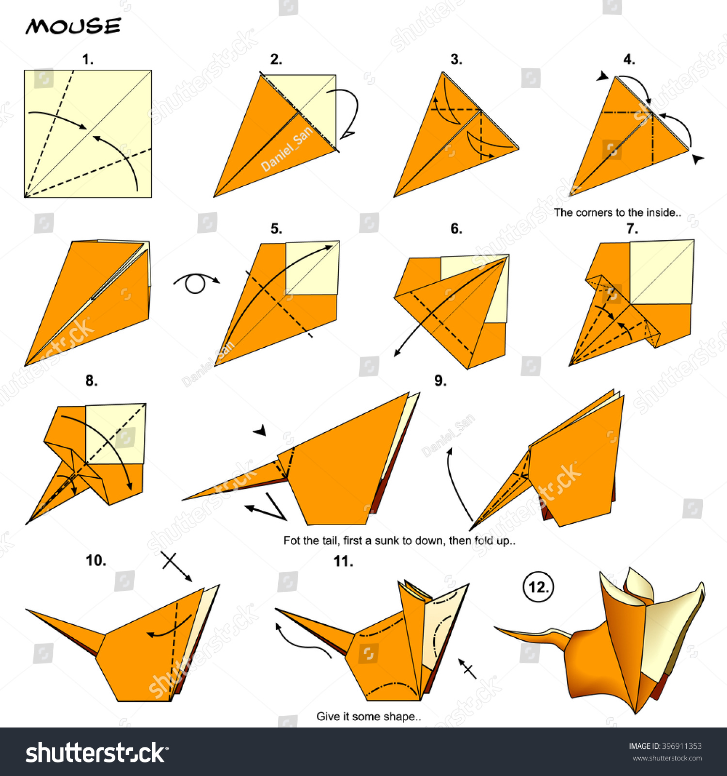 3d origami diagram animals 2006 club car precedent wiring penguin diagrams free for you 88 how to make step by instructions modular stock