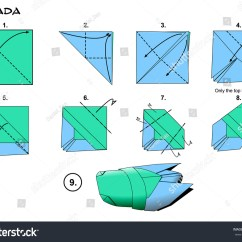 Folding Origami Box Diagram One Way Light Switch Wiring Insect Traditional Cicada Instructions