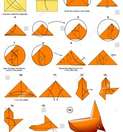 origami sea animal fish goldfish diagram instructions steps  [ 1125 x 1600 Pixel ]