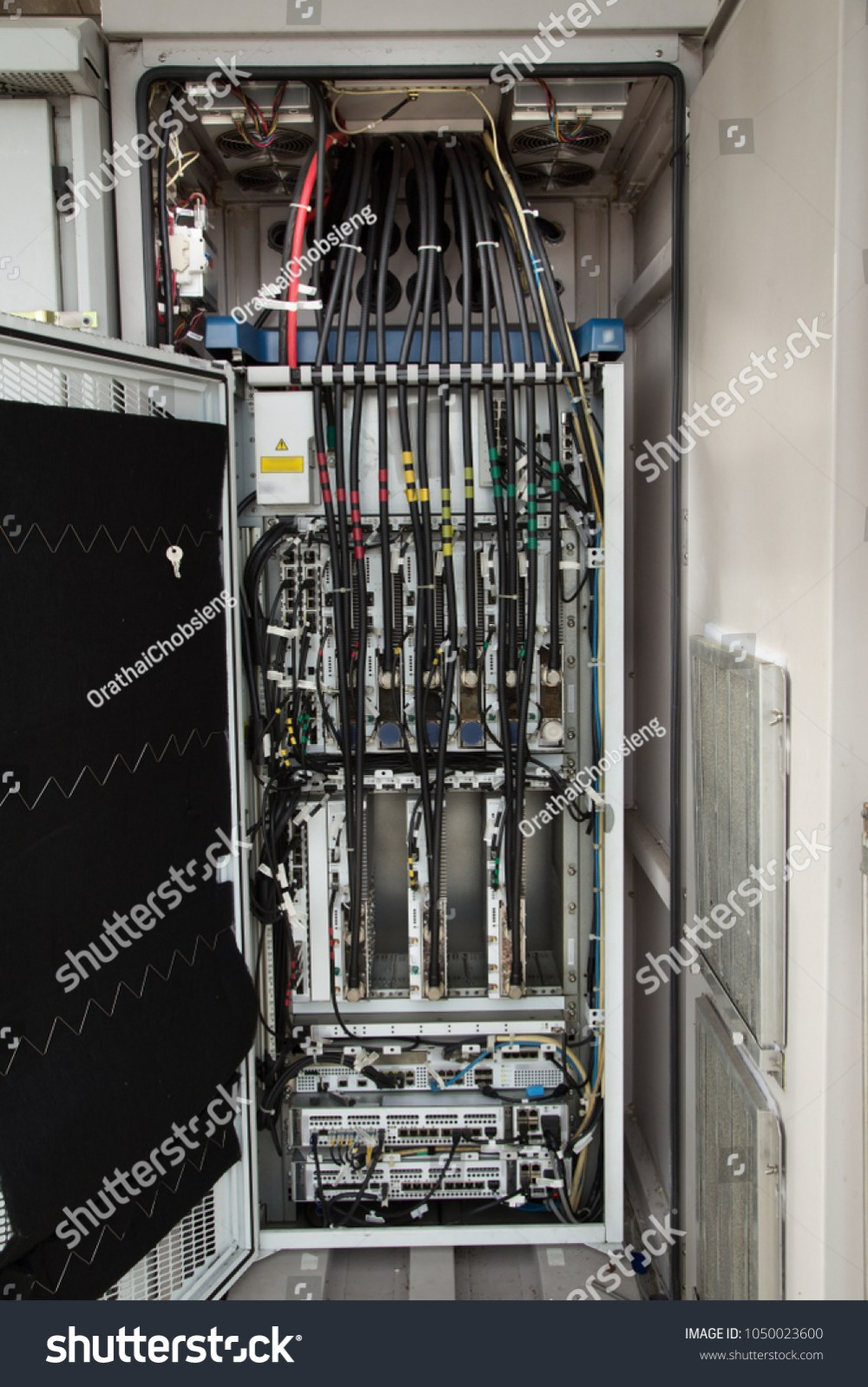 medium resolution of outdoor cabinet wiring diagram for servers and switches are located in the server room of the
