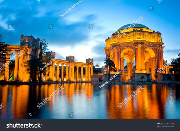 Palace Fine Arts Museum Night San Stock 97847222