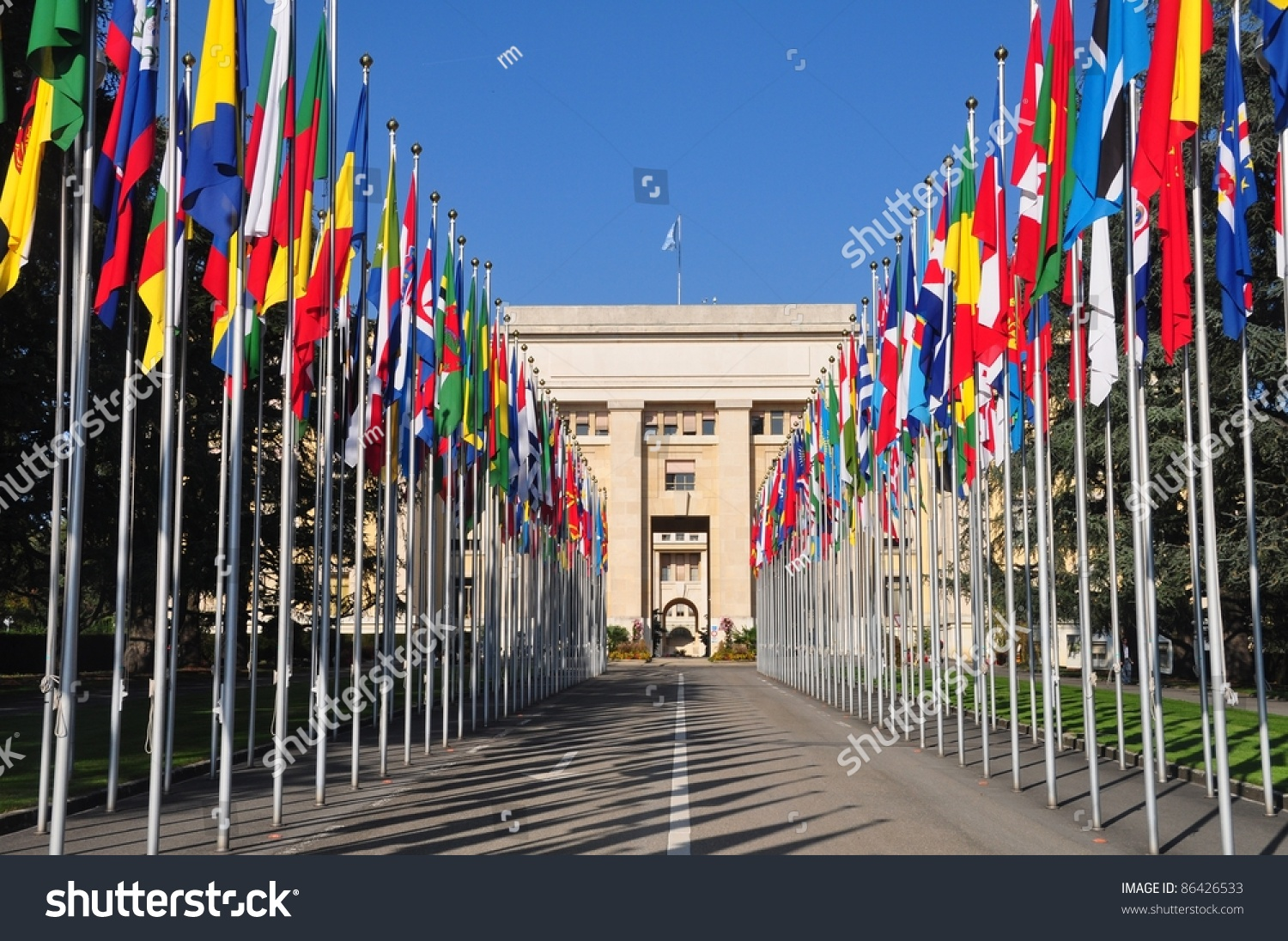 Palais Des Nations United Nations In Geneva Stock Photo 86426533 : Shutterstock