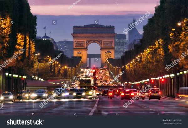 Paris Champs Elysees at Night