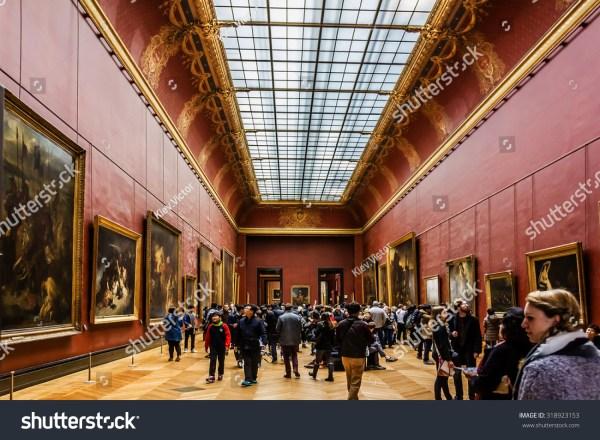 Paris France - December 22 2014 Tourists Visit Art