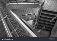 Pattern Of Triangle Stair In Black And White Tone Stock ...