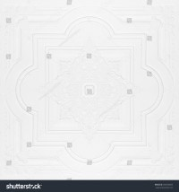 Patterns On Ceiling Gypsum Sheets Stock Photo 289250603 ...
