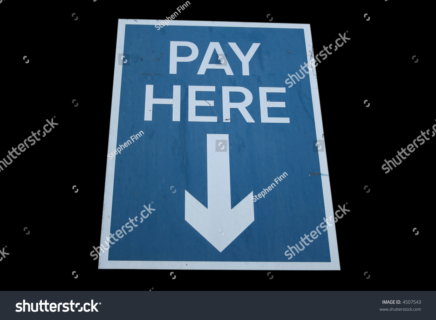 Pay Here Sign Arrow Isolated On Stock Photo 4507543 - Shutterstock