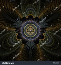 Peacock Feathers Abstract Fractal Design For Backgrounds ...