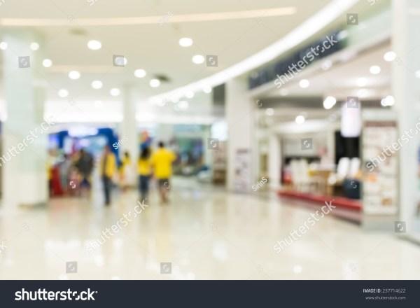 People Shopping Department Store Defocused Blur Stock