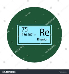 periodic table element rhenium icon in badge style one of chemical signs collection icon can [ 1500 x 1600 Pixel ]