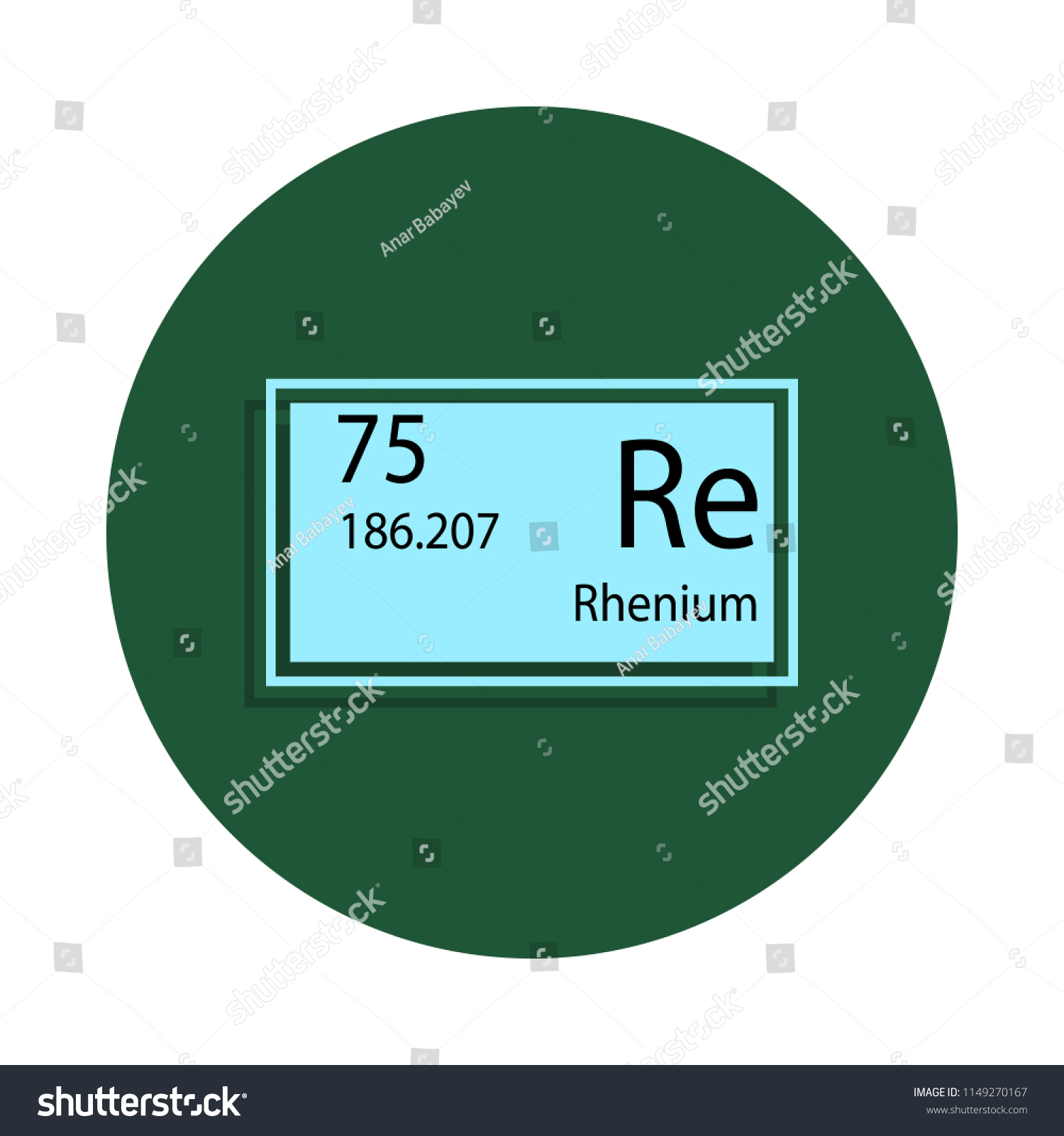 hight resolution of periodic table element rhenium icon in badge style one of chemical signs collection icon can