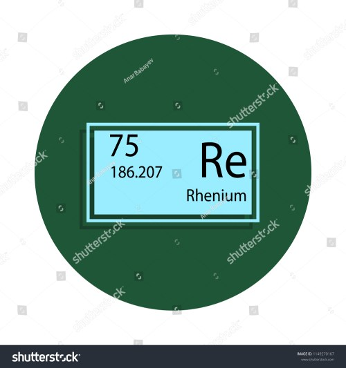 small resolution of periodic table element rhenium icon in badge style one of chemical signs collection icon can