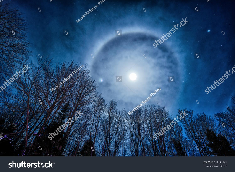Photo Night Sky Featuring Moon Corona Stock Photo 209171980 - Shutterstock