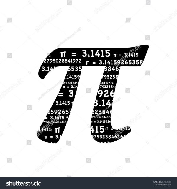 Pi Symbol Sum Formula Equals Stock Illustration