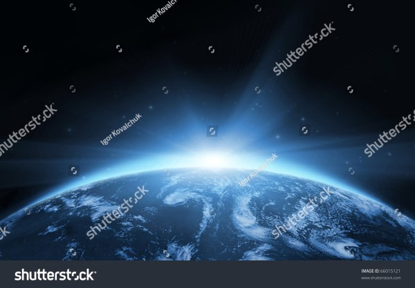 Planet Earth Sunrise From Space