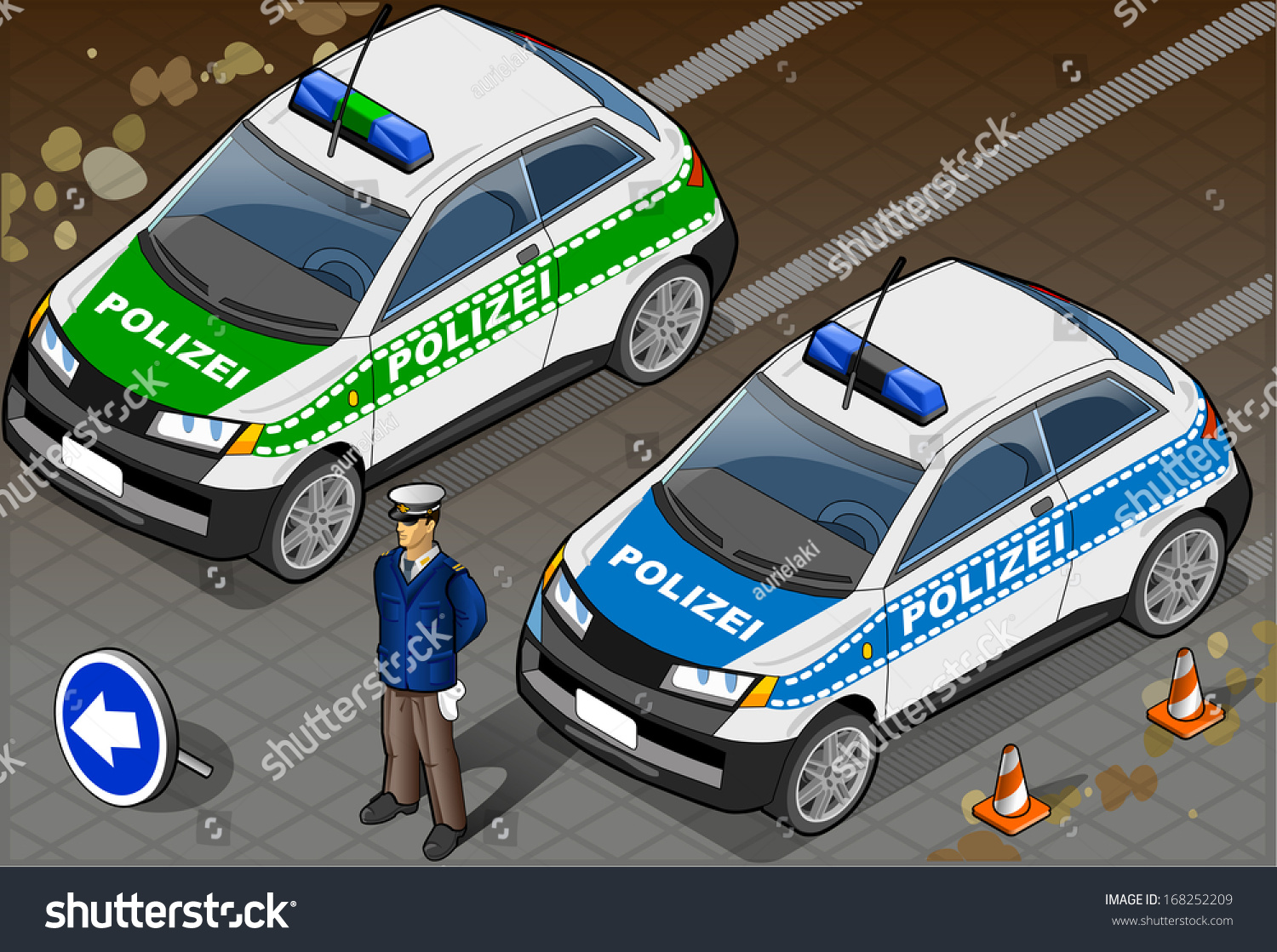 police department cars set