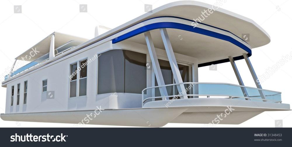 medium resolution of pontoon boat on white