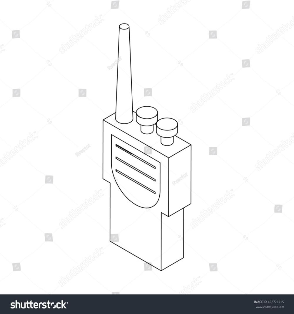 medium resolution of portable handheld radio icon in isometric 3d style