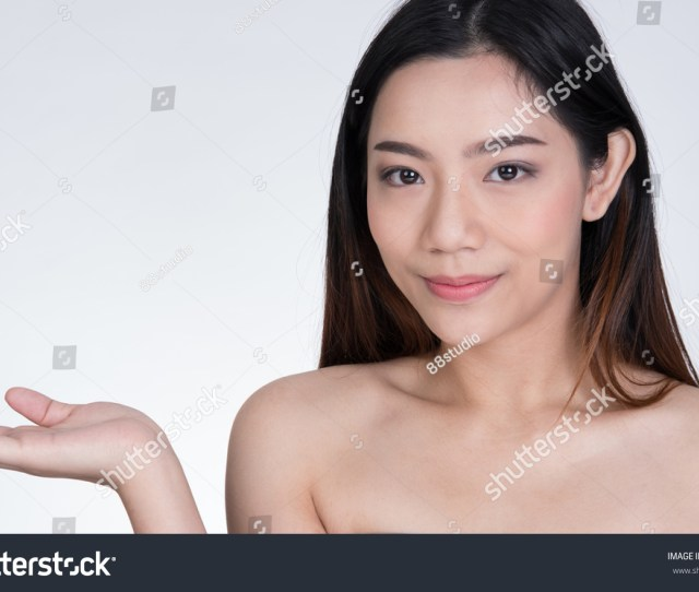 Portrait Of A Smiling Young Woman With Natural Make Up Beautiful Asian Naked Girl