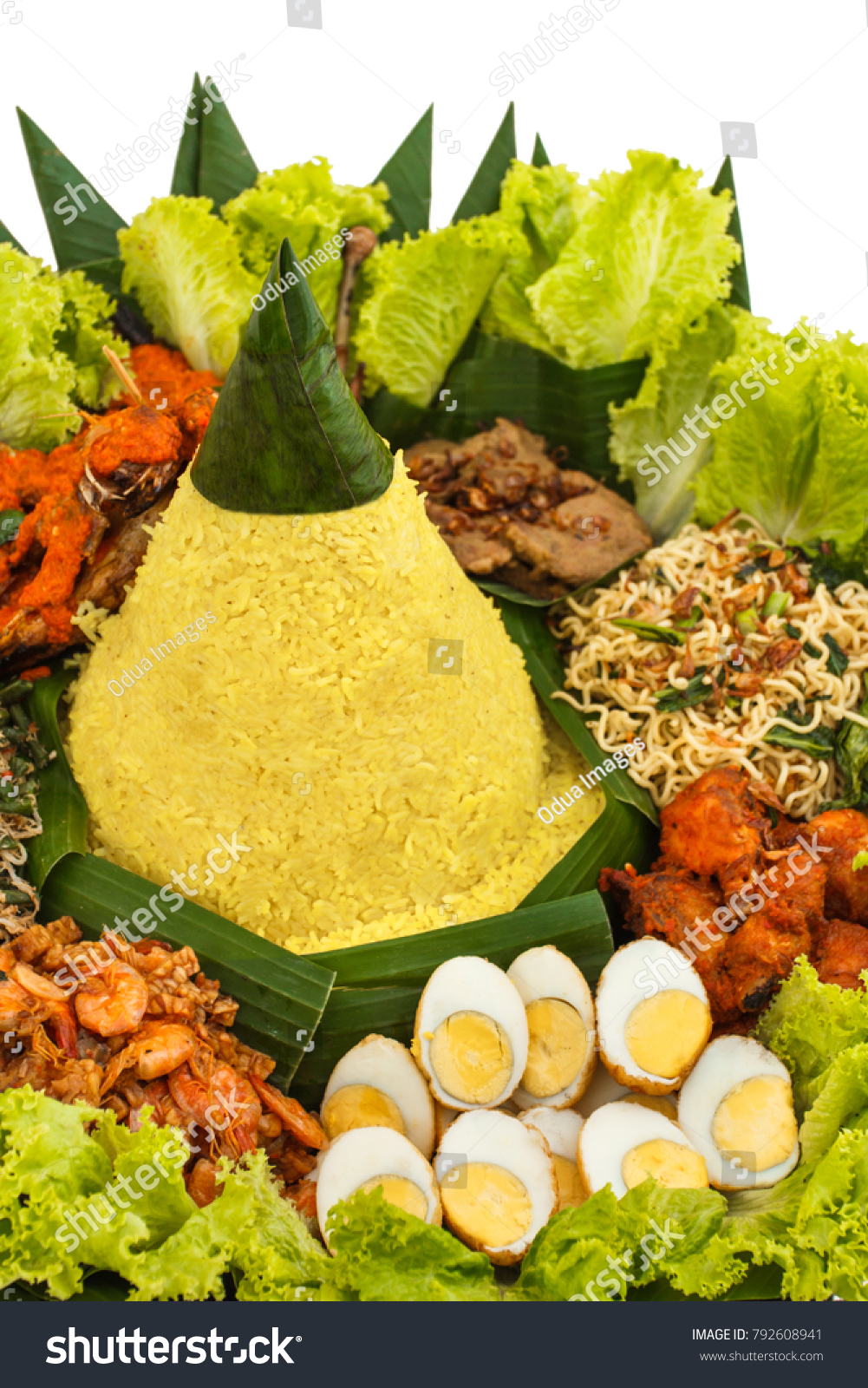 Nasi Tumpeng Vector : tumpeng, vector, Portrait, Indonesian, Tumpeng, Celebration, Stock, Photo, (Edit, 792608941