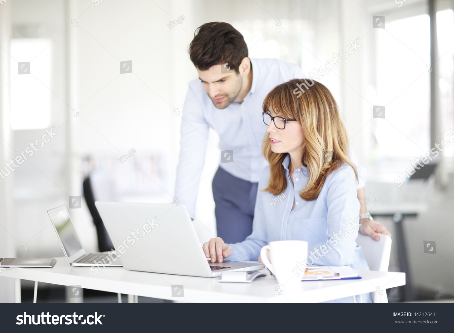 Portrait Middle Age Investment Advisor Her Stock Photo