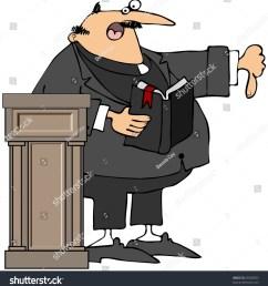 preacher giving the thumbs down [ 1469 x 1600 Pixel ]