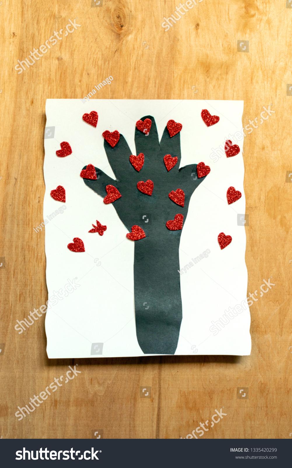 Preschool Arts Crafts Activities Easy Gift Stock Photo Edit Now 1335420299