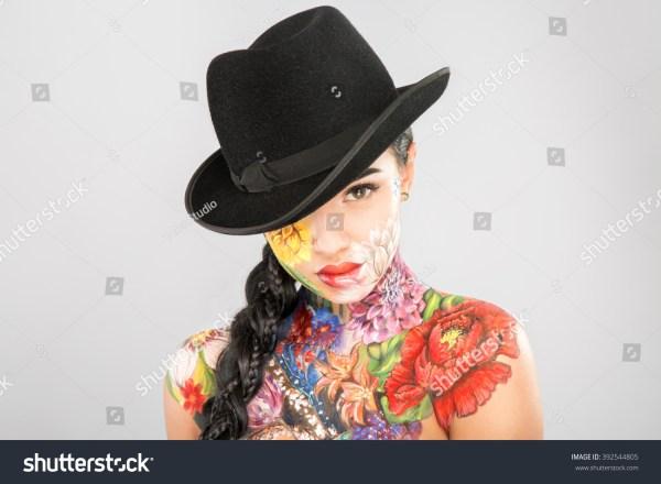 Pretty Girl Dark Long Hair Wearing Stock 392544805 - Shutterstock