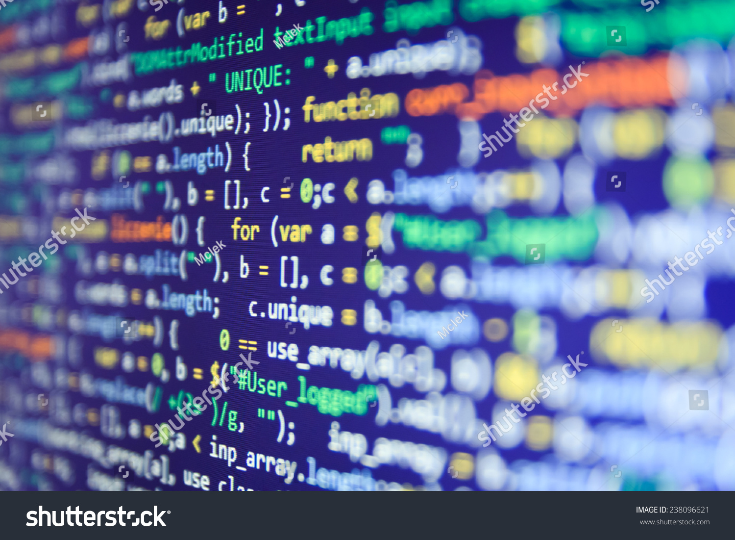 Programming Code Abstract Screen Software Developer Stock