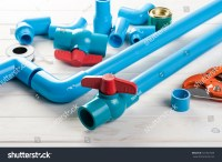 Pvc Pipe Connections Pvc Pipe Fitting Stock Photo ...