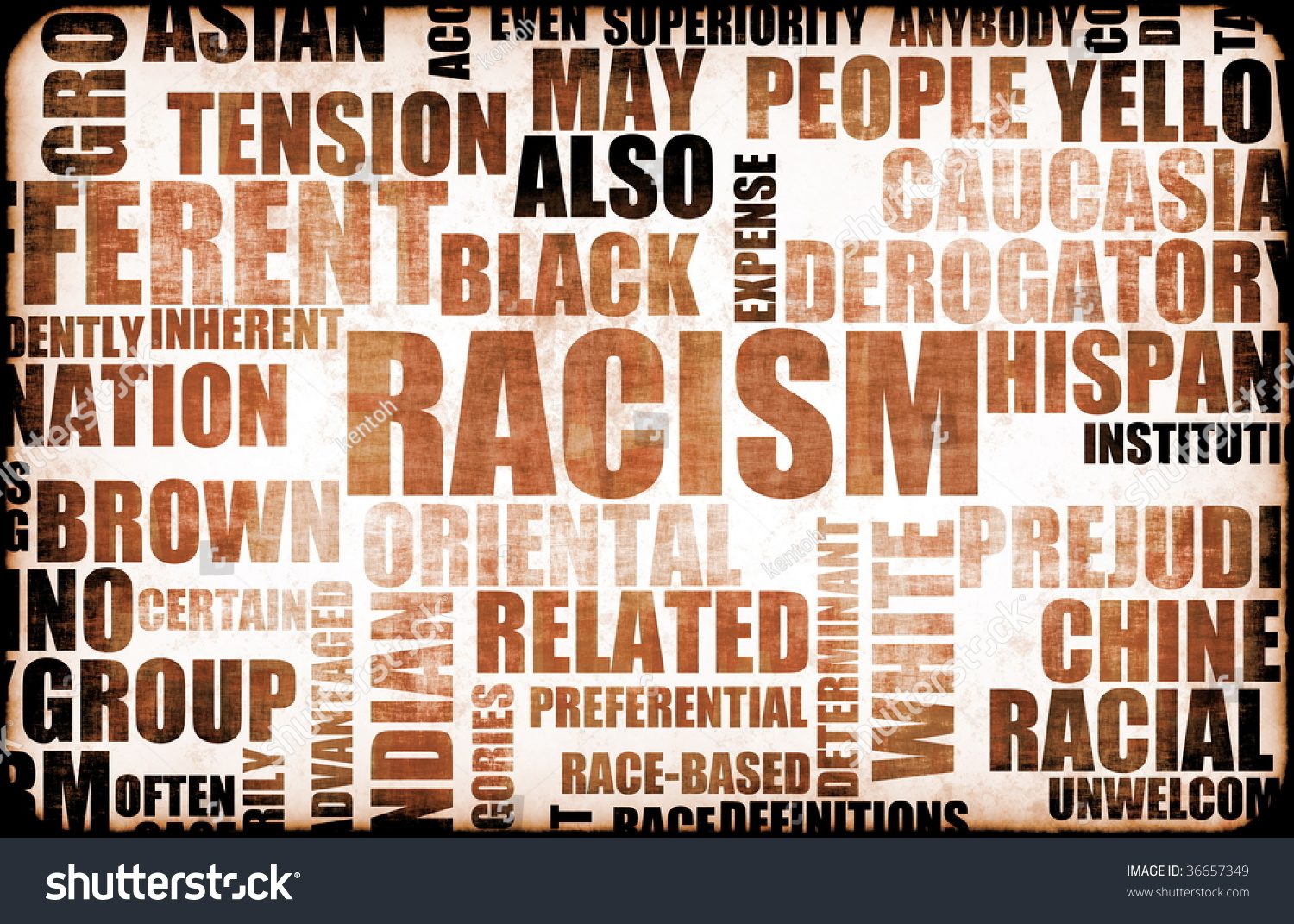 Racism And Discrimination As A Grunge Background Stock Photo 36657349 : Shutterstock