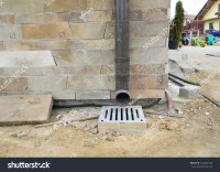 Rain Gutter Downspout Pipeline Drain System Stock Photo ...