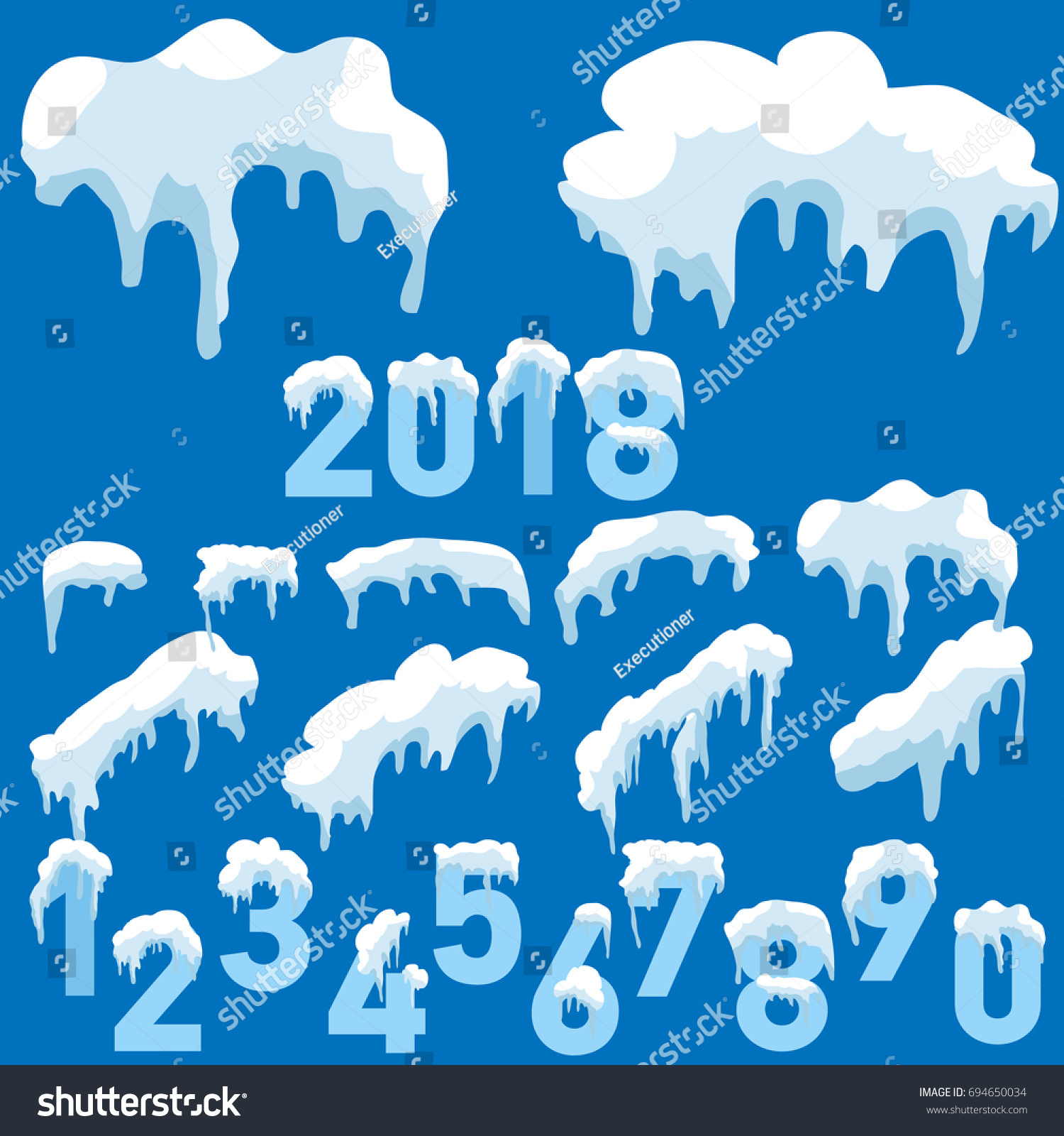 hight resolution of raster icicle and snow elements clipart different snow cap raster