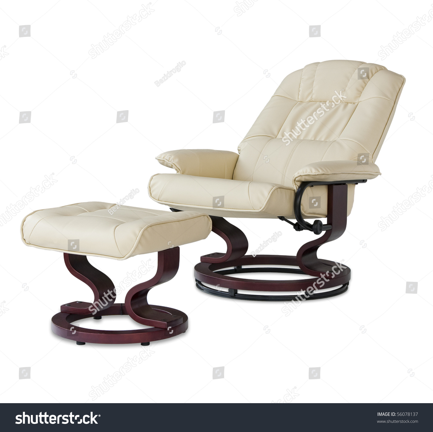 swivel chair definition patio with nesting ottoman canada reclining leather massage foot rest in beige