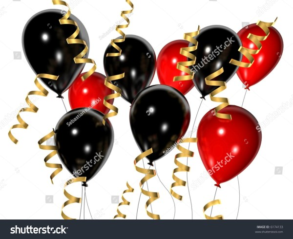 balloon clip art black and red