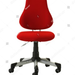 Desk Chair Red Swivel Without Wheels Stock Photo 51408775 Shutterstock