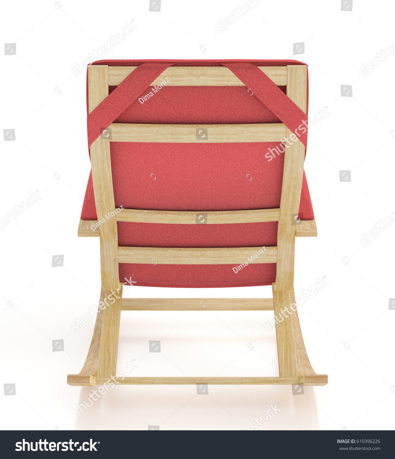 Red Rocking Chair Red Rocking Chair Isolated On White Stock Illustration