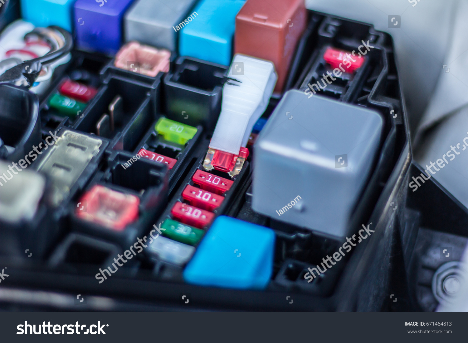 hight resolution of remove fuse fuse box car stock photo edit now 671464813remove the fuse in fuse