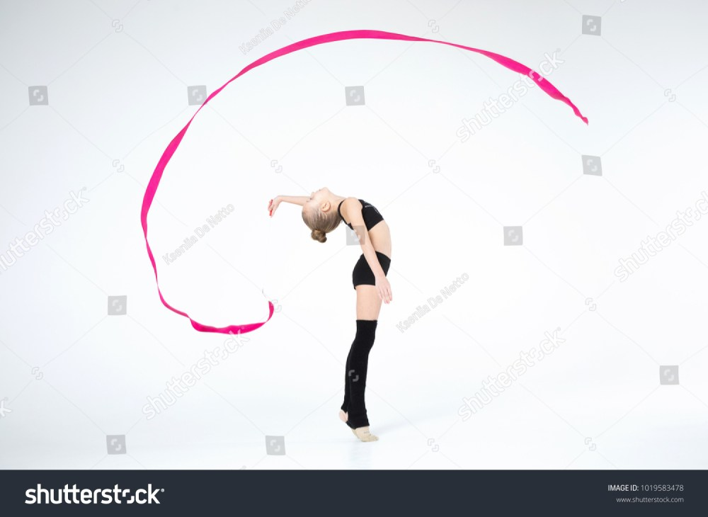medium resolution of rhythmic gymnastics white caucasian cute beautiful girl execute pivots and pirouettes during dancing in black suit
