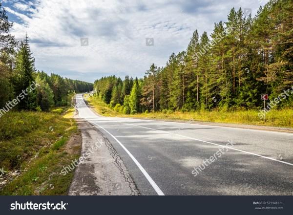 Road Natural Landscape Cumulus Clouds