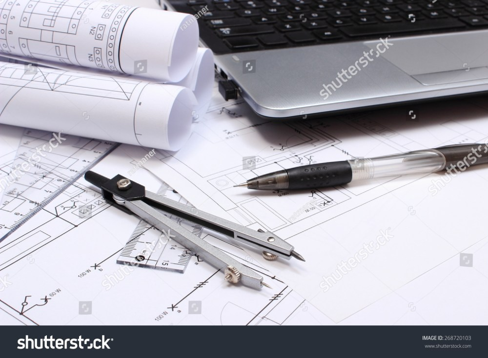 medium resolution of rolls of electrical diagrams construction drawings of house accessories for drawing and laptop