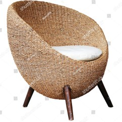 Stool Chair Photography Slip Cover Dining Round Wicker Chairs On White Background Stock Photo