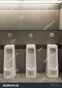 Row Outdoor Urinals Men Public Toiletcloseup Stock Photo ...